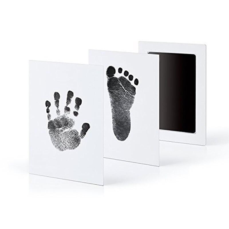 Huellas dactilares para bebés recién nacidos, tinta de tinta no tóxica para la salud, marco de fotos DIY, Recuerdo de niña, niño, juguete decorativo, 1 unidad