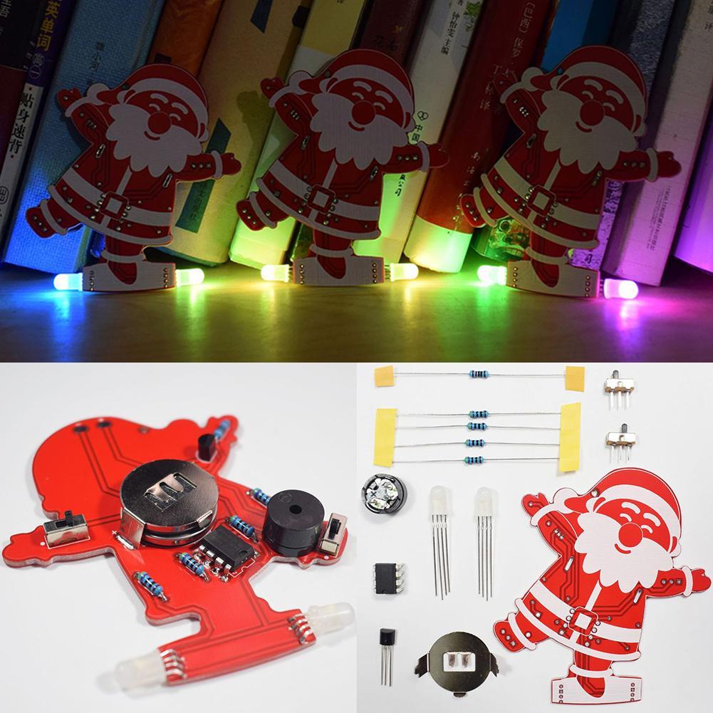 2021 adornos navideños para el hogar Kit de luz de Color degradado USB con música colgante de Papá Noel para decoración del árbol de navidad