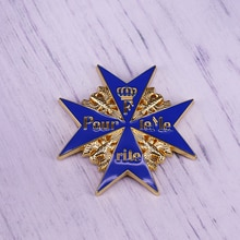 Broche en émail Pour Le Mérite couronne aigle WW1 médaille allemande bleue Max feuilles de chêne épées insigne de récompense de larmée broche de prix de chevalier prussien