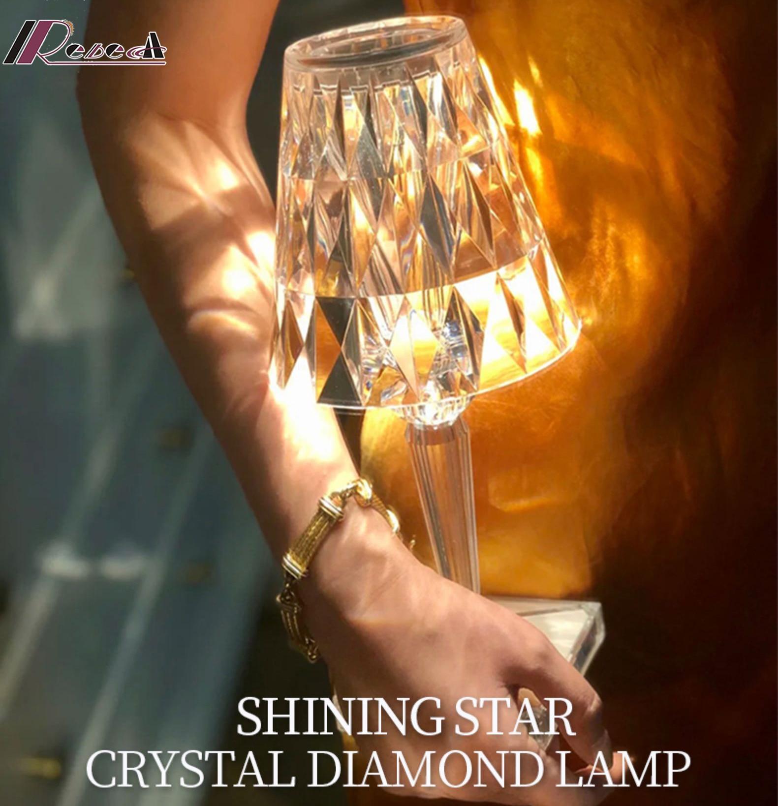 Новейшая Хрустальная настольная лампа, для спальни, гостиницы, гостиной, настольная лампа, художественное украшение для кабинета, акрилова...