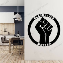 Appeal to peace lovers Wallpaper Murals Black Lives Matter BLM Vinyl Sticker Decal for Window Bumper Laptop Notebook Decor WZ107