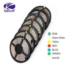 RGB 300 LED 스트립 빛 5m 60LEDs/m 5050 SMD 2835 화이트 따뜻한 화이트 레드 블루 LED 스트립 12V 방수 유연한 테이프 로프