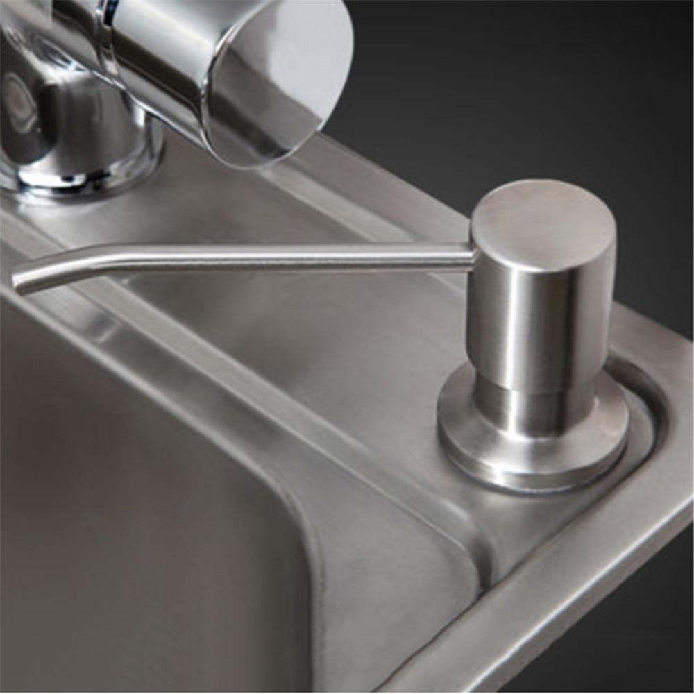 Dispensador de jabón para fregadero de cocina de 300ml, botella de plástico ABS con bomba de loción integrada, botella de plástico para organizar jabón líquido para baño y cocina