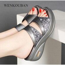 Women Slippers Summer Platform Flip Flops Wedge Open Toe Casual Shoe Ladies Slide Beach Shoes Woman zapatos de mujer 2020