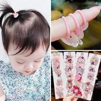 lovely children kids korean tie cute girls elastic hair ring cartoon pink hair accessory accesorios para el cabello headwear