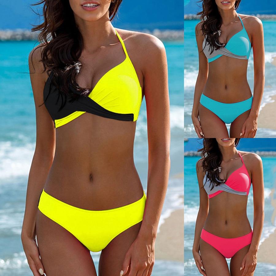 Sexy Bikini Push Up Swimwear Women biquinis feminino mujer Swimsuit tanga Swimming Bathing Suit Plus Size Bikinis Set XXXL