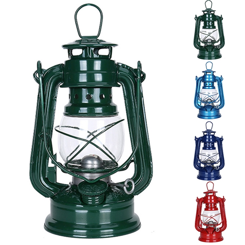 Уличная керосиновая лампа 19/25 см в стиле ретро для кемпинга, освещение масляного чая, декоративный Многофункциональный Железный винтажный ...
