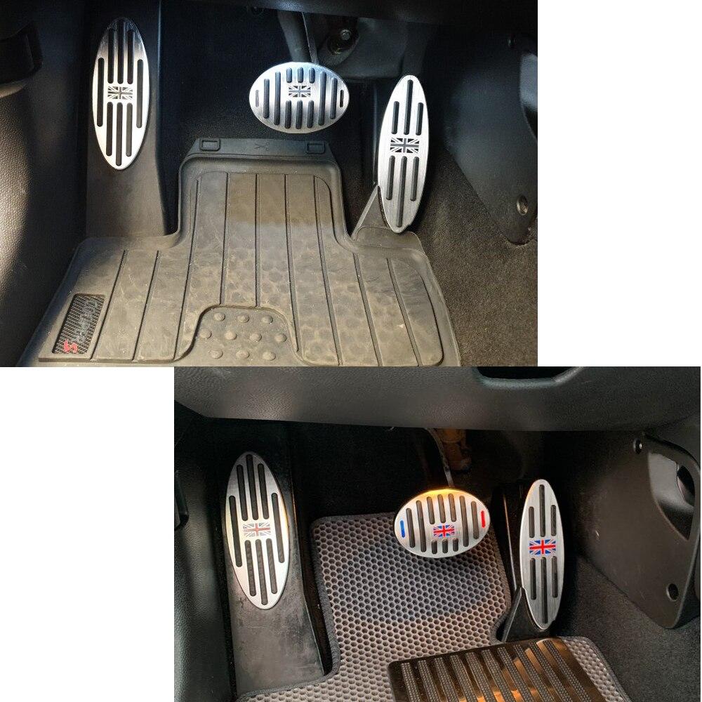 For MINI Cooper S JCW Countryman F60 R60 Accessories One R55 R61 F54 F55 F56 F57 Footrest Pedal Sticker For MINI R56 Decorations