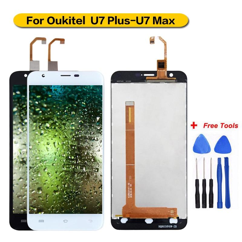 Para la pantalla LCD Oukitel U7 Plus con pantalla táctil para Oukitel U7Plus/U7 Max montaje digitalizador + herramientas