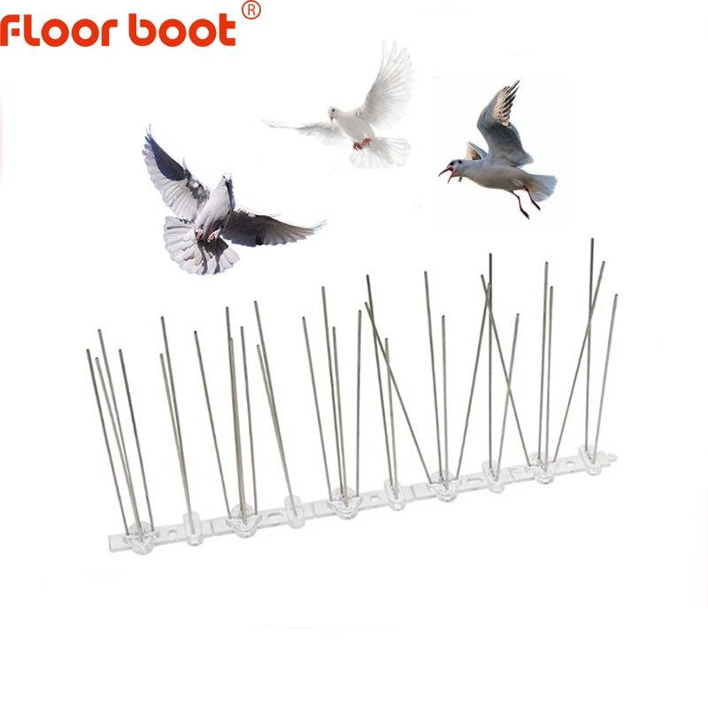 Floor boot bird repeller spikes /scarers pigeons anti/reject bird control anti/stainless steel bird spikes/scarer plastic 1m-8mj
