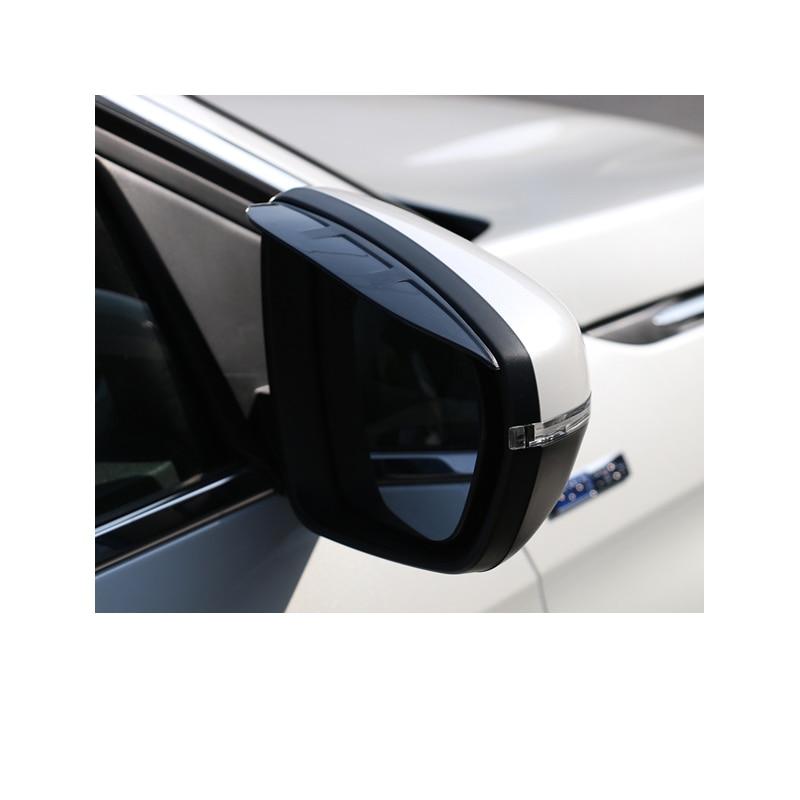 Lsrtw2017 acrílico Abs coche retrovisor lluvia escudo marco para Peugeot 3008 Peugeot 5008 Interior accesorios 2017, 2018, 2019, 2020