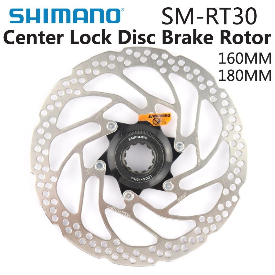 SHIMANO DEORE SM RT30 Brake Disc Center Lock Disc Brake Rotor Mountain Bikes Brake Disc 160MM 180MM MTB