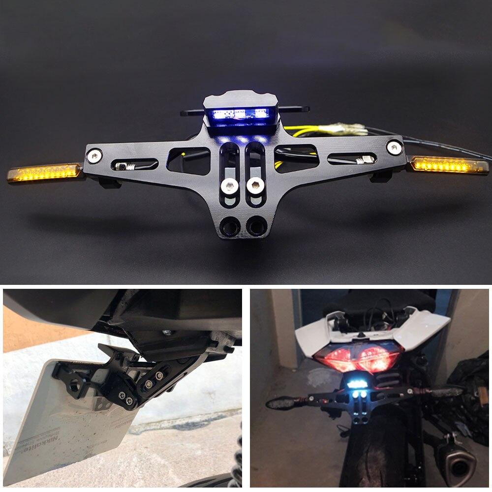 لوحة ترخيص دراجة نارية عالمية CNC لـ pcx 150 honda cbf 125 fz6 bajaj platina mt09 2019 ، إطار دراجة نارية ، ملحقات دراجة نارية