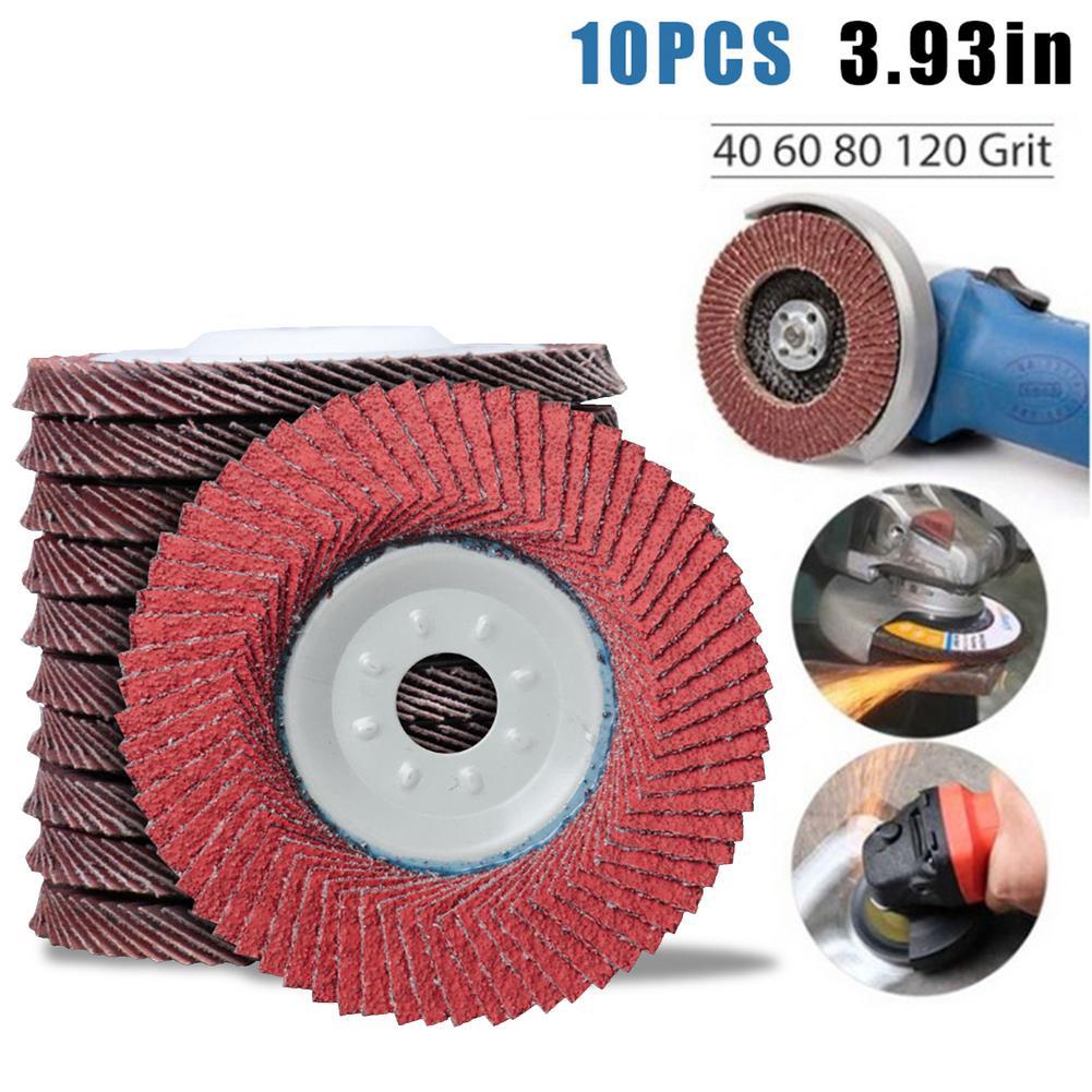 10 шт. профессиональные шлифовальные диски 16 мм, откидные диски 110 мм, шлифовальные диски, Зернистость 40/60/80/120, шлифовальные диски, лезвия для ...