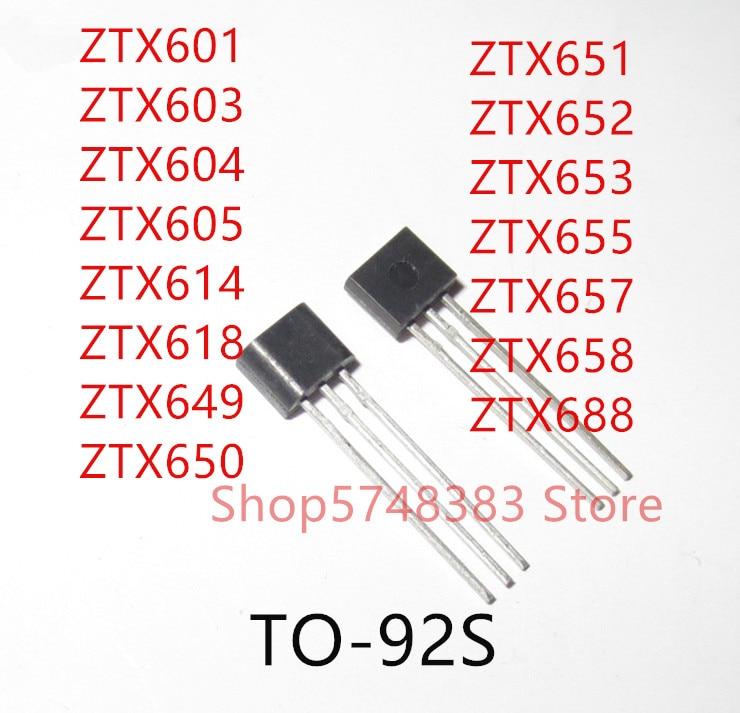 10 Uds., ZTX601, ZTX603, ZTX604, ZTX605, ZTX614, ZTX618, ZTX649, ZTX650, ZTX651, ZTX652, ZTX653, z655, z657, TO-92S