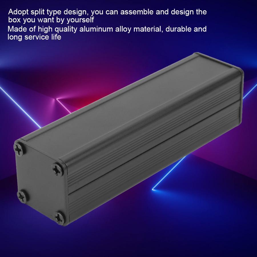 GPRS Aluminum Box  25*25*90mm Aluminum Cooling Case Split Type Electronic DIY Instrument Project Enclosure Wire Connector