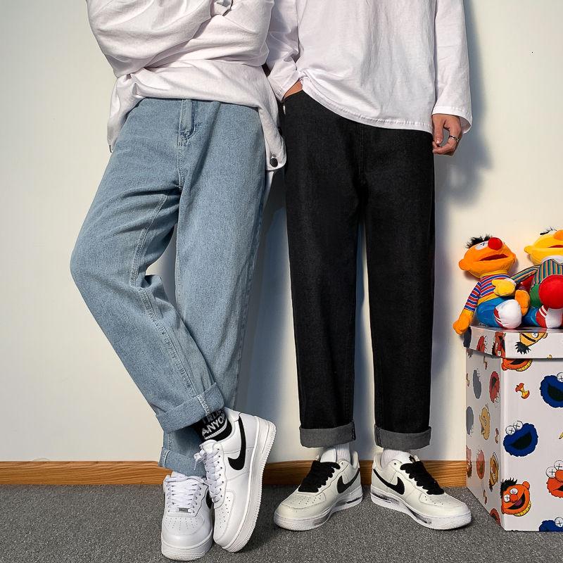 Осенне-зимние базовые облегающие брюки, популярные джинсы, мужские джинсовые брюки, мужские брюки, горячая распродажа