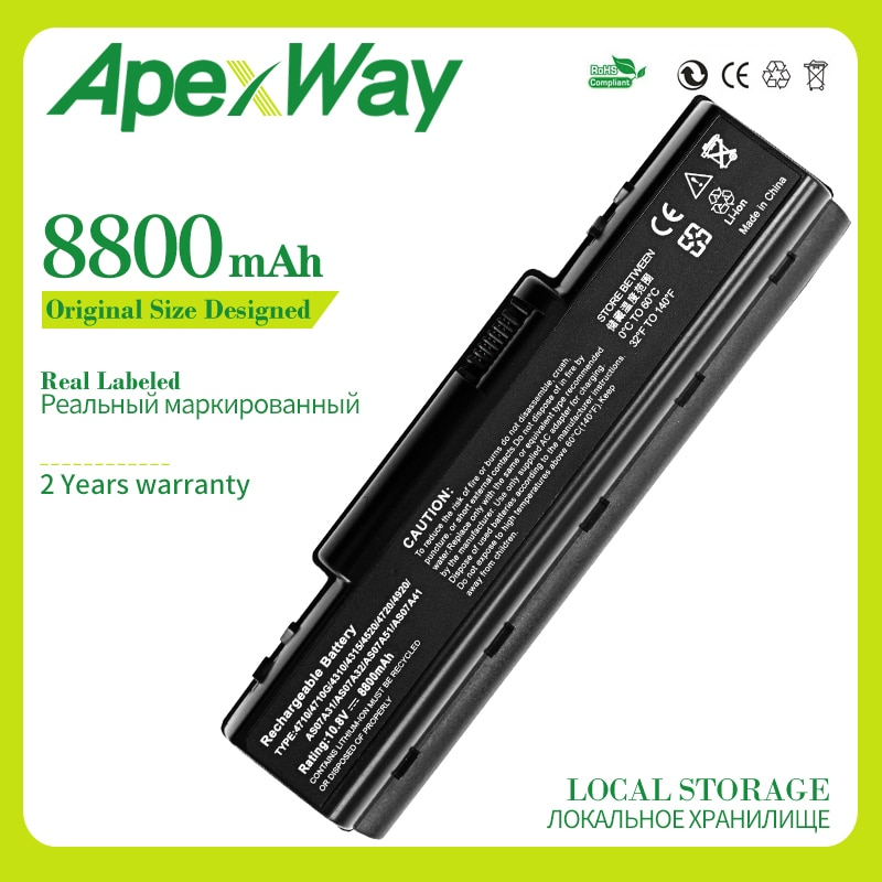 Apexway 11,1 V 8800mAh batería para Acer Aspire 4710 de 4730 de 5735 AS07A31 AS07A32 AS07A41 AS07A42 AS07A51 AS07A52 AS07A71 AS07A72