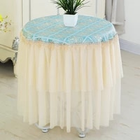 round lace long tablecloth tea table cover table skirt round lace rural tablecloth wedding partty dinner table decor sheet