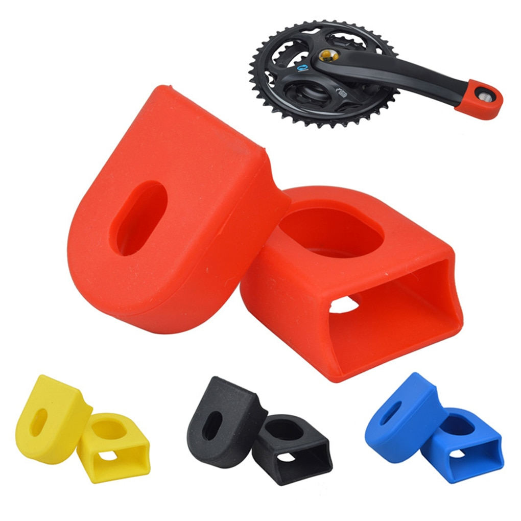 AliExpress - 2PCS Bike Crank Cover Protector Silica Gel Bicycle Race Crank Boot Protectors Crankset Protective Case