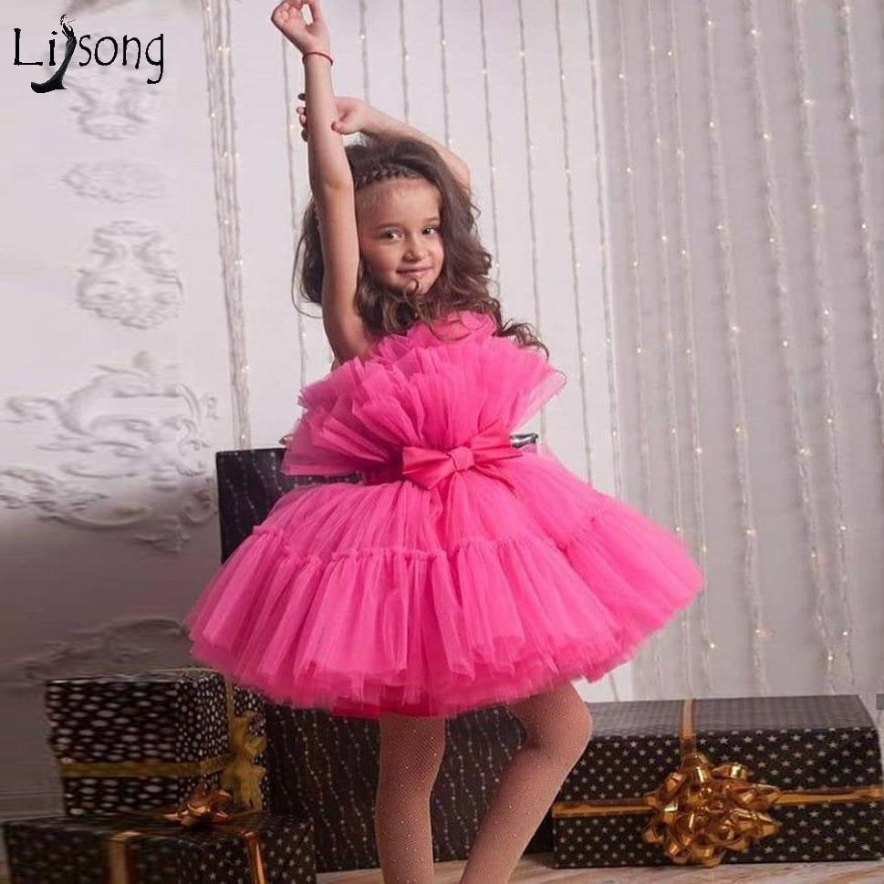 فستان جميل من التول للأطفال ، فستان منتفخ ، لون الحلوى ، زهور قصيرة ، مصنوع حسب الطلب ، لطيف ، لحفلات الزفاف