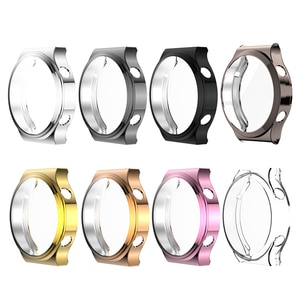 Soft TUP Plated Waterproof Frame Cover Shell All-Around Protective Case Screen Protector for Huawei GT2 pro Watch Accessories