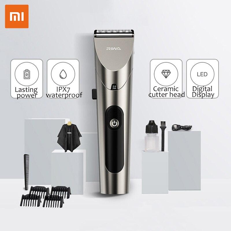 شاومي ريوا الكهربائية الشعر المقص اللاسلكي USB شحن مقاوم للماء المتقلب للرجال 6200 دورة/دقيقة 6 واط الانتهازي للرجال