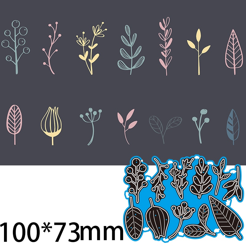 Cutting Dies  Flower and leaves DIY Scrap Booking Photo Album Embossing Paper Cards 100*73mm
