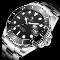 TESEN Top Brand New 43mm Men Luxury Automatic Mechanical Watches 316L Stainless Steel  Sapphire Glass Luminous Waterproof  Watch