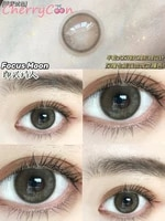cherrycon poet brown hazel contact lenses yearly colored soft for eyes small beautiful pupil contact lens myopia 2pcspair