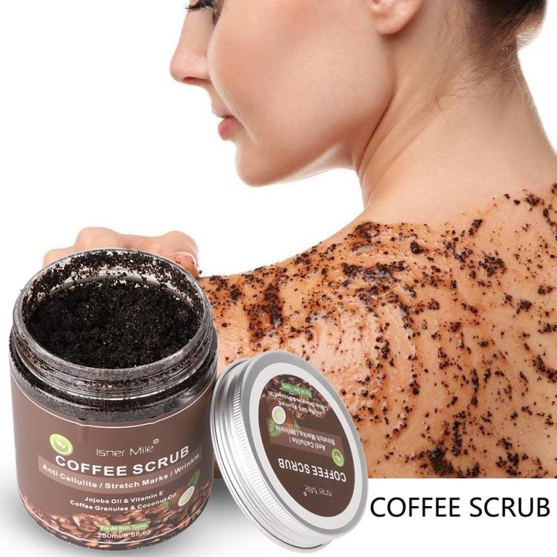 New!Coffee Scrub Body Scrub Exfoliators Cream Facial Dead Sea Salt For Whitening Moisturizing Anti Cellulite Treatment Acne