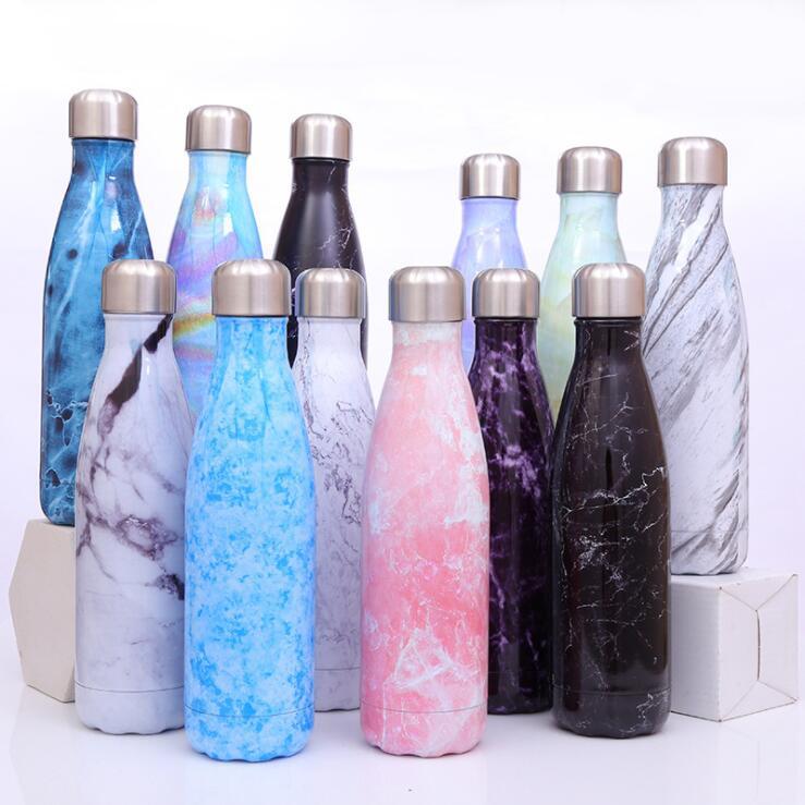 Termo de acero inoxidable, botella de vacío de 500ml, taza de café, leche, taza de viaje al aire libre, deportes, termo, Coque