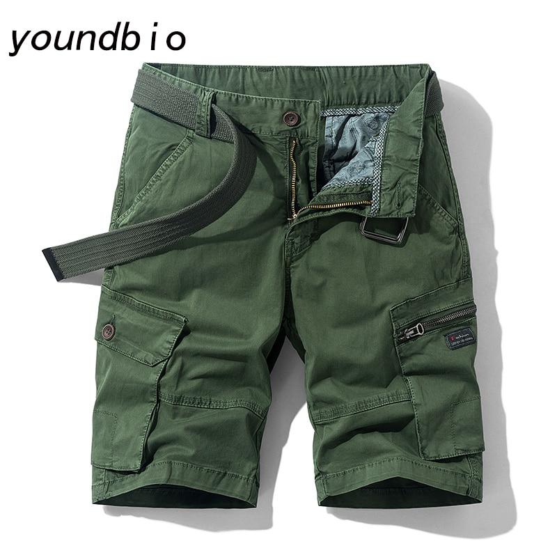 Shorts Men Summer Casual Shorts Fashion 100% Cotton Shorts Mens Cargo Shorts Solid Color Shorts Travel Mountaineering