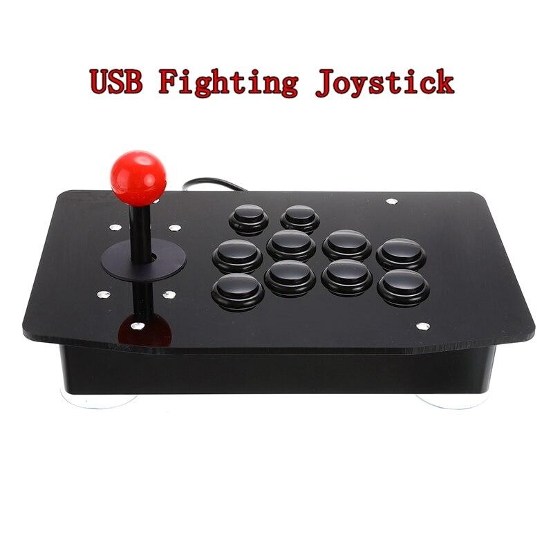 Joystick Arcade, palo de lucha USB, controlador de videojuegos, videojuego para PC, ordenadores de escritorio