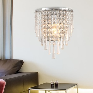 Post-Modern Luxury Creative Iron Led K9 Crystal Wall Lamp For Bedroom Living Dining Room Mirror Bedside Indoor Decor Lighting