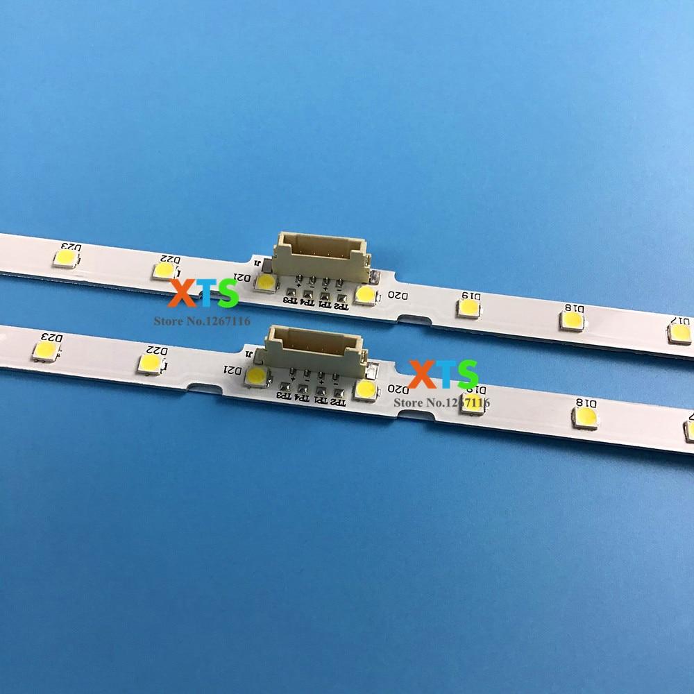 Pcs LED Backlight para Samsung UE55NU7100 10 UE55NU7300 AOT_55_NU7300_NU7100 BN61 15485A Y18 NU7K 55NU7100 UE55NU7120 UE55NU7172 Contas iluminadas    -