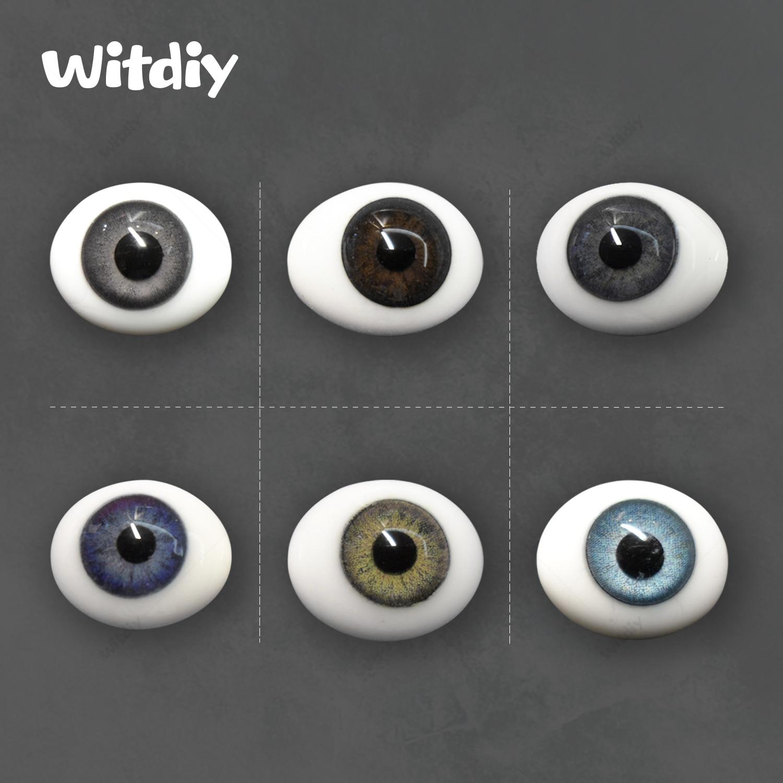 Witdiy البيضاوي الزجاج العين/نهضة دمية زجاج عيون/BJD زجاج عيون/1000 درجة مئوية عالية درجة الحرارة الإنتاج/عيون ل مجموعة ألعاب