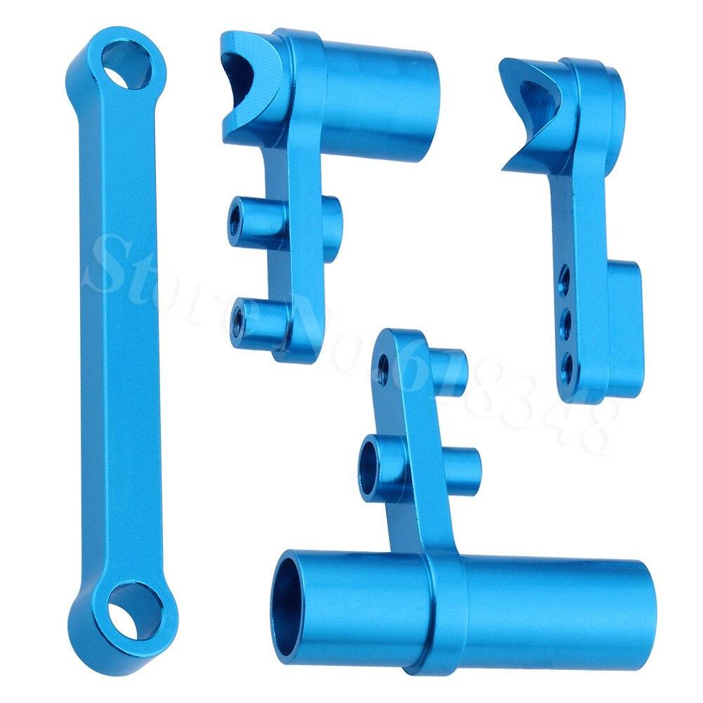 HSP 122057 102257 aluminio protector de Servo de dirección conjunto completo 02025 y 02075 piezas de mejora para 1/10 RC coche CNC Redcat Exceed