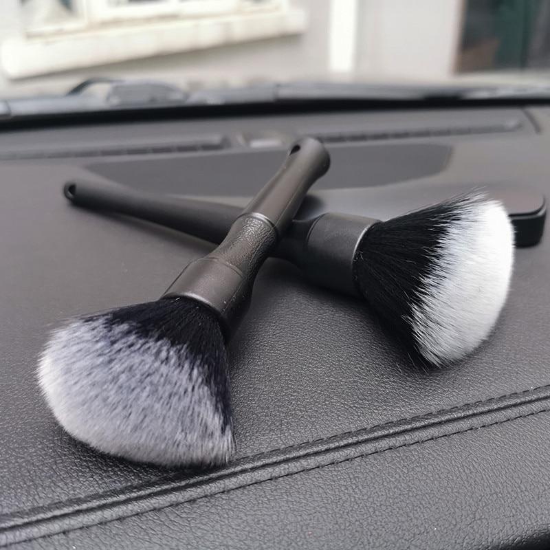 Ultra-Soft Detailing Brush Super Soft Auto Interior Detail Brush With Synthetic Bristles Car Soft brush 2 Pcs/set brush scraper avs wb 6328 52 cm soft handle распушенная bristles 2 surface