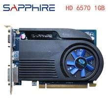 SAPPHIRE Video Cards HD6570 1GB GDDR3 AMD Graphics Card GPU Radeon HD 6570 Office Computer For AMD C