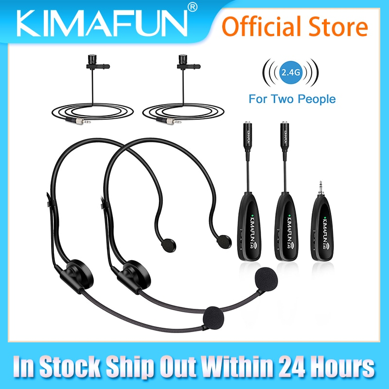 Get 2.4G Wireless Lapel Microphone System-Dual Wireless Headset Lavalier Mic for iPhone,DSLR Camera,YouTube,Podcast,Conference,Vlog