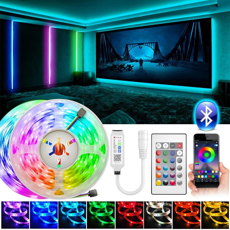 Bluetooth Led Strip Light 5m10m RGB SMD5050 2835 Led Lights Tape Flexible Non waterproof 12V LED Strip Ribbon for Home Christmas