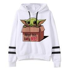 2020 The Mandalorian New Movie Funny Cartoon Hoodies Men Kawaii Baby Yoda Star Wars Sweatshirt Hip Hop Streetwear Hoody unisex