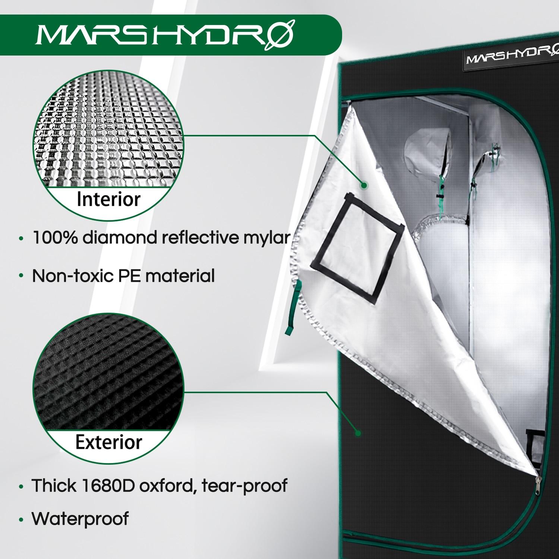 1680D Mars Hydro 2-IN-1 Indoor Grow Tent, Grow Room Plant Growing ,Garden Greenhouses enlarge