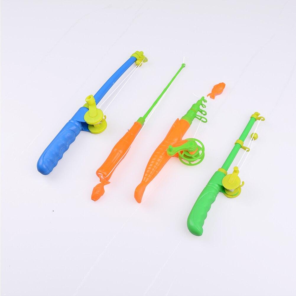 Caña de pescar 1 Uds., caña de pescar magnética para bebés y niños, modelo de pez, juguete educativo, juego de plástico divertido para regalo
