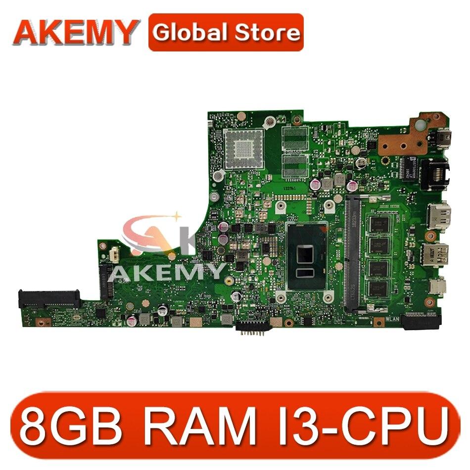 Akemy ل ASUS X405U X405UA X405UN X405UR X405URR X405UQ X405URP X405UF Laotop اللوحة X405UA اللوحة 8GB RAM I3-CPU