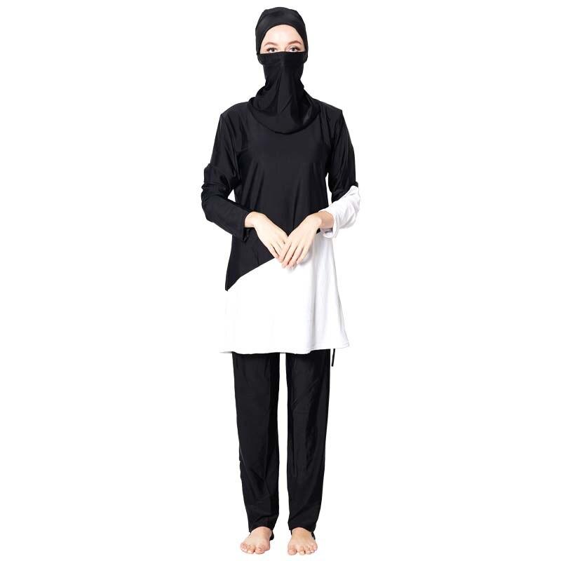 DROZENO Muslimah islámica empalme musulmana traje de baño nadar Surf deporte Burkinis traje de baño mujeres musulmana traje de baño