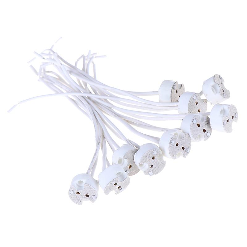 ¡Novedad! MR16 GU5.3 conector de cable de Base, soporte de cerámica para lámpara Led, 1 unidad/5 uds/10 Uds.
