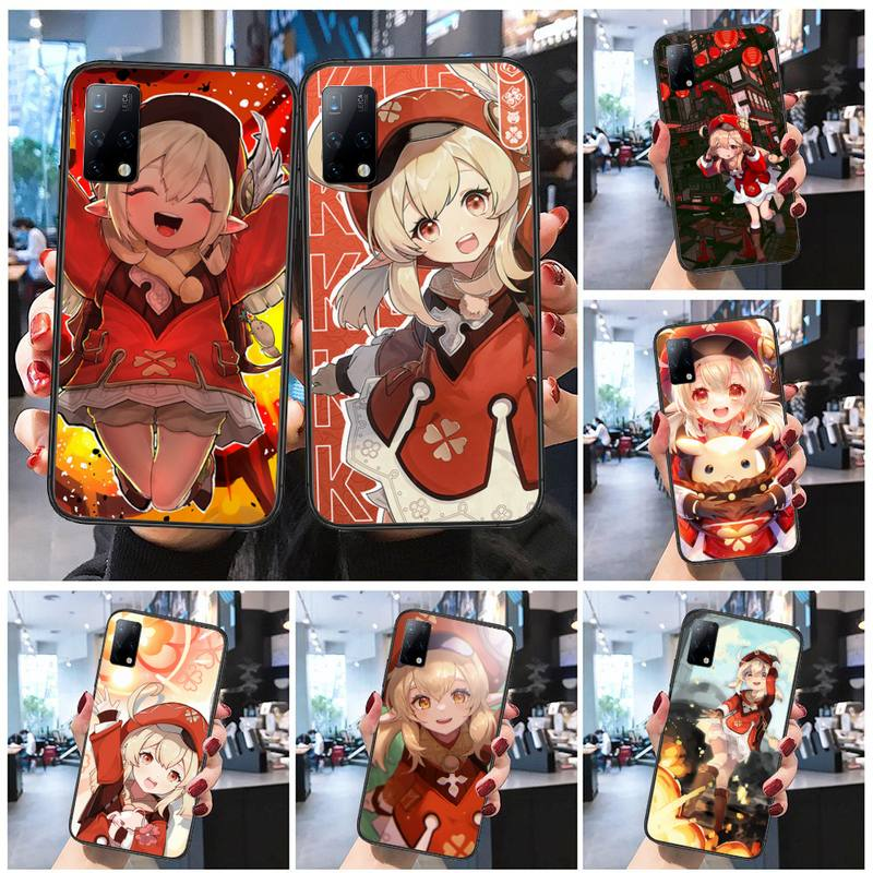 Geshin impact klee Phone Case for redmi 5 6 7 8 9 5A 6A 7A 8A K30 note 4 5 7 8 9 10 5A pro plue shell