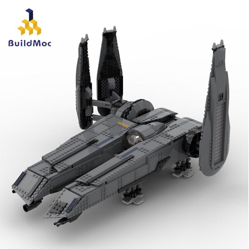 Buildmoc الفضاء الحروب الفيلم 2 روغ العيون-إطلاق العنان للقوة سفينة حربية سفينة الفضاء نموذج زارة التجارة بناء كتلة الطوب لعبة للأولاد